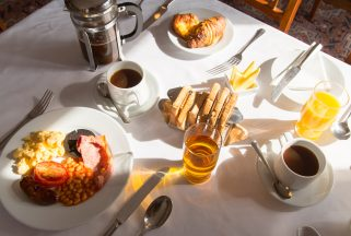 Breakfast served at Studland restaurant Knoll House