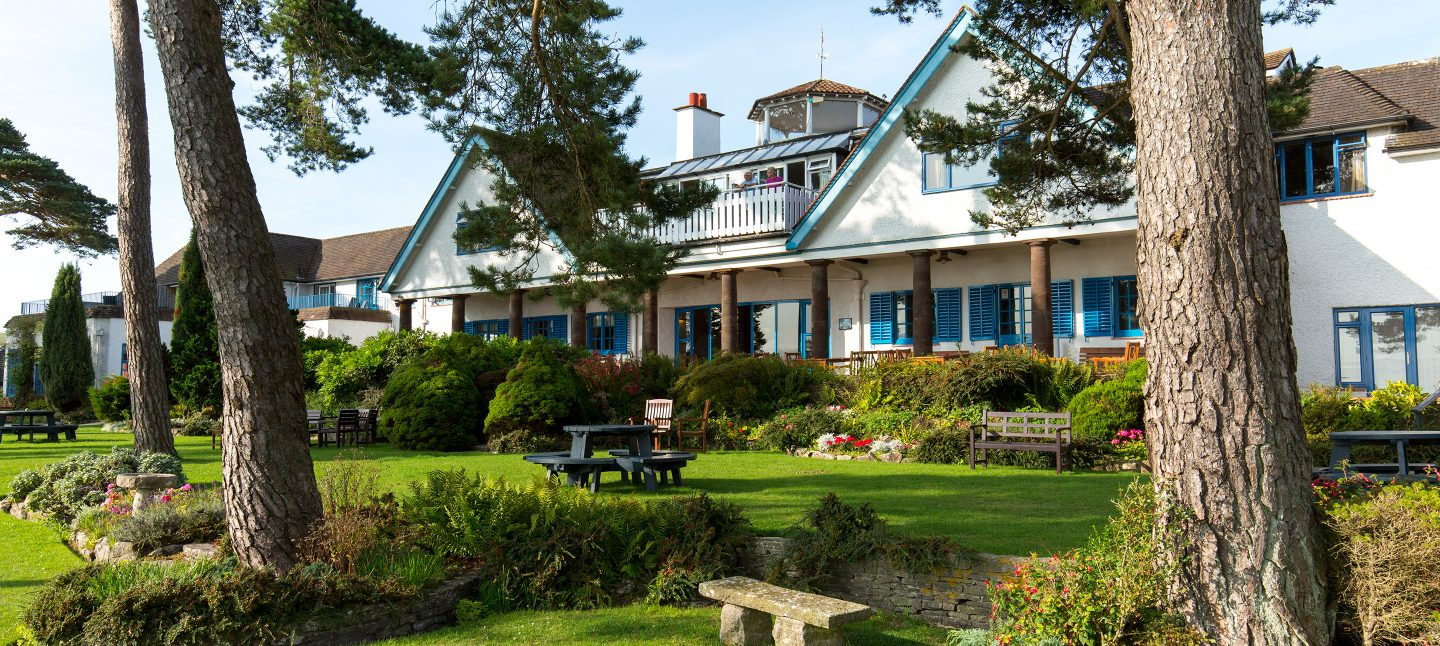 The exterior of Knoll House hotel in Studland