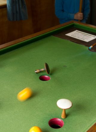 Billiards games table at family-friendly hotel in Dorset