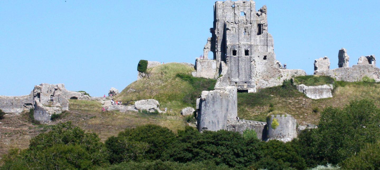 Corfe Castle in Dorset