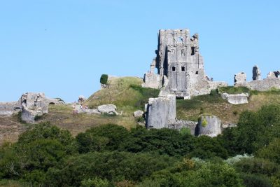 Corfe Castle in Dorset