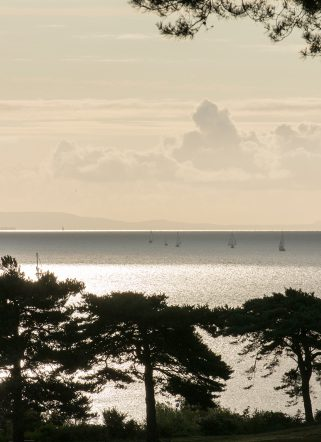 Dorset sea views from our private dining venue, Knoll House